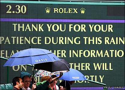 A sign on Centre Court