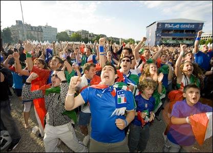 """""""Forza Italia"""" - Romania 1-1 Italy"""