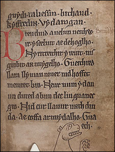 The Black Book of Carmarthen. National Library of Wales (NLW)
