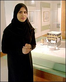 Museum curator Aisha Deemas (Photograph: Richard Duebel)
