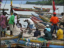 Fishing boats in Sierra Leone