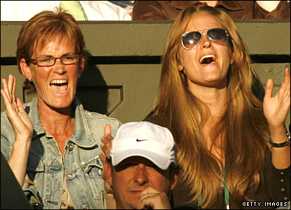 Judy Murray and Kim Sears offer their support for Andy