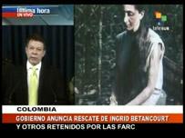 Anuncio de liberación de Ingrid Betancourt