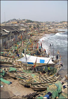 Fishing village in Ghana