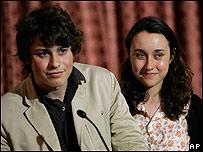 Lorenzo Delloye y su hermana Melanie, hijos de Ingrid Betancourt