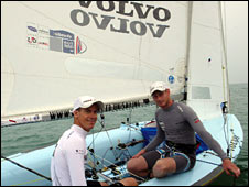 Sailors Joe Glanfield and Nick Rogers