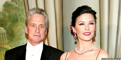 Michael Douglas and Catherine Zeta Jones (File pic: 2005)