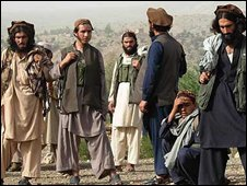 Militants loyal to Taleban leader Baitullah Mehsud in the Pakistani tribal regin of South Wazristan