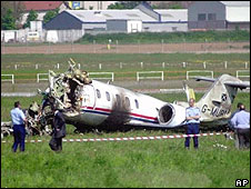The private plane crash in 2000 from which David Coulthard escaped