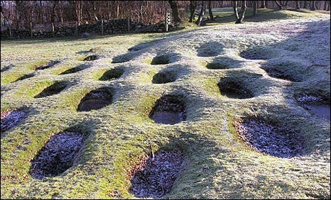 Antonine Wall at Rough Castle. Pic by Undiscovered Scotland