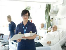 Liz Ward at Barnsley Hospital