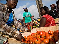 Food market in Accra