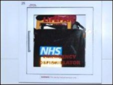 NHS defibrillator