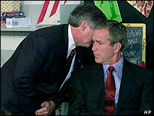 George Bush learns of the attack