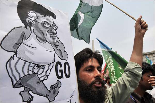 محامون باكستانيون في مظاهرة للمطالبة