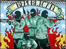 A Republican mural in Belfast. File photo