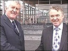 First Minister Rhodri Morgan and Deputy First Minister Ieuan Wyn Jones