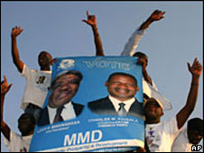 Mwanawasa supporters during the 2006 campaign
