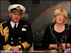 Admiral Sir Jonathon Band and Baroness Ann Taylor
