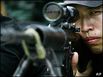 Soldado de fuerzas especiales filipinas