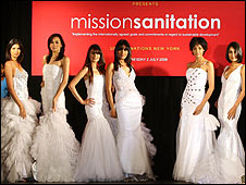 Models at the UN sanitation fashion show