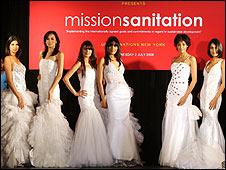 Models at the UN sanitation fashion show