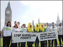 Protesta contra biocombustibles en Londres