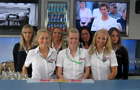 Red Bull catering girls
