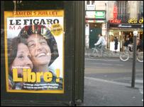 Imagen de Ingrid en el diario franc�s Le Figaro