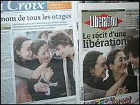 Im�genes de Ingrid con sus hijos en la prensa francesa