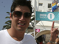 Vernon Kay in Ibiza last year