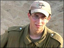 Cpl Gilad Shalit, seized in a June 2006 in a cross-border raid by militants