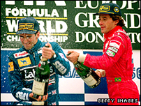 Damon Hill and Ayrton Senna