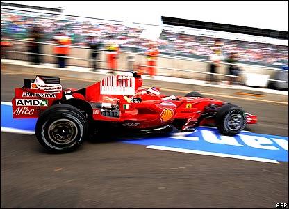 Raikkonen in his Ferrari