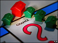 "Properties on a monopoly board ""chance"" square"