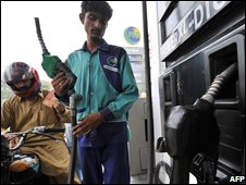 Filling station in Lahore