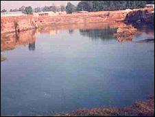 Abandoned mine pool at Shugwi Vom, Nigeria