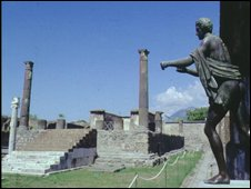 Statues at Pompeii, file image
