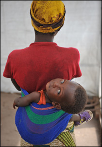 Mother and child in DR Congo