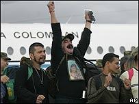 Rehenes liberados en Colombia, AP