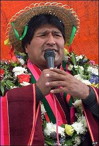 Evo Morales, AP