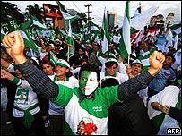 Manifestación de la oposición en Santa Cruz, Bolivia, AFP