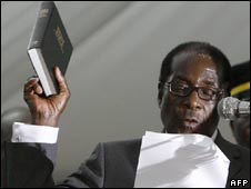 Robert Mugabe is sworn in on 29 June