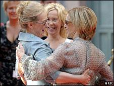 Meryl Streep, Agnetha Faltskog and Anni-Frid Lyngstad