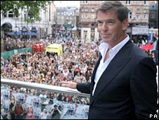 Pierce Brosnan in London