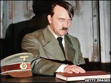 Hitler waxwork at Madame Tussauds in Berlin