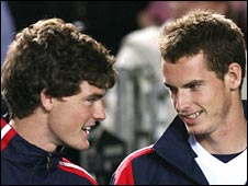 Jamie Murray (left) with brother Andy
