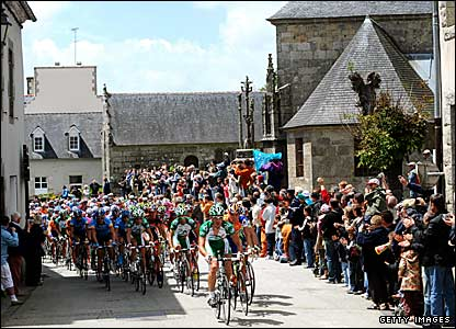 The Tour de France peloton