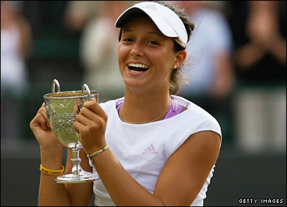 Laura Robson with the trophy