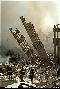 Ruinas del World Trade Center, Sept 11 de 2001, AP
